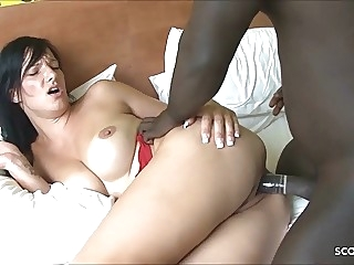 German Wife Cheat Husband with Monster Cock Black Callboy hardcore facial interracial