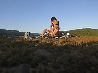 Ebony goddess in public with the drone cam! beach interracial hd videos