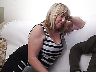 Trisha mature top rated stockings
