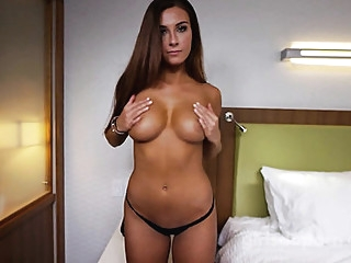 Latina with nice Tits gave herself to a stranger at the casting... big tits casting latina