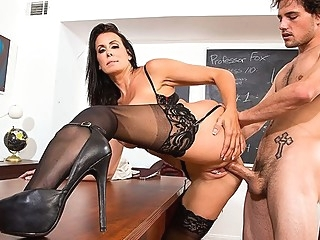 After class, a student in the class ripped slit wet teacher in stockin... milf stockings straight