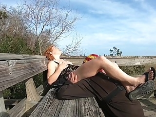 Horny While Hiking (Flashing, Public Sex And Facial) amateur big cock cumshot