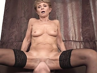 Granny likes em Young Hung granny mature stockings