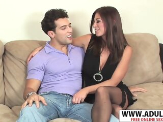 Elderly New Mama Lucky Benton Gives Titjob Sweet Her Step-son big tits brunette hd