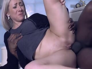 Emma Klein Increased by Julie Holly - French Mature Bazaar Has Interracial Anal Sex In Bathroom big cock blonde high heels