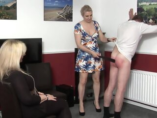 Vertu Neighbour Spanked Apart from 2 Gentlemen blonde british femdom