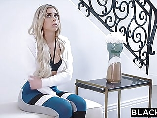 BLACKED It was her first time in LA blonde blowjob facial