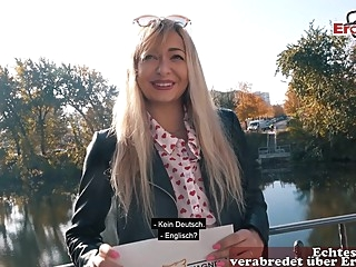 german blonde street prostitute real public pick up EroCom Date pov in berlin amateur blonde german