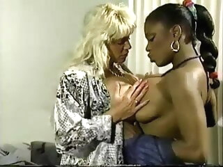 Beverlee with an increment of Clouded lesbian pornstar interracial