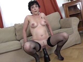 Granny Takes Bbcs anal big cock brunette