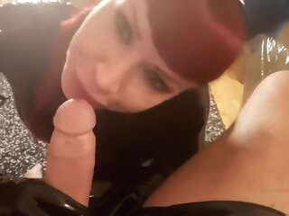 Latex gloves POV handjob blowjob handjob latex