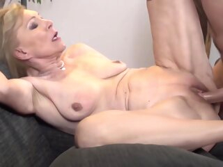 Horny Blonde Granny Is Having Amazing Coitus With A Younger Guy, In The Middle Of The Day big cock blonde deepthroat